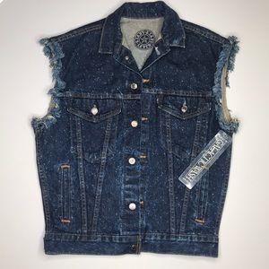 Vintage 80s LEVI'S Galactic Wash Denim Vest